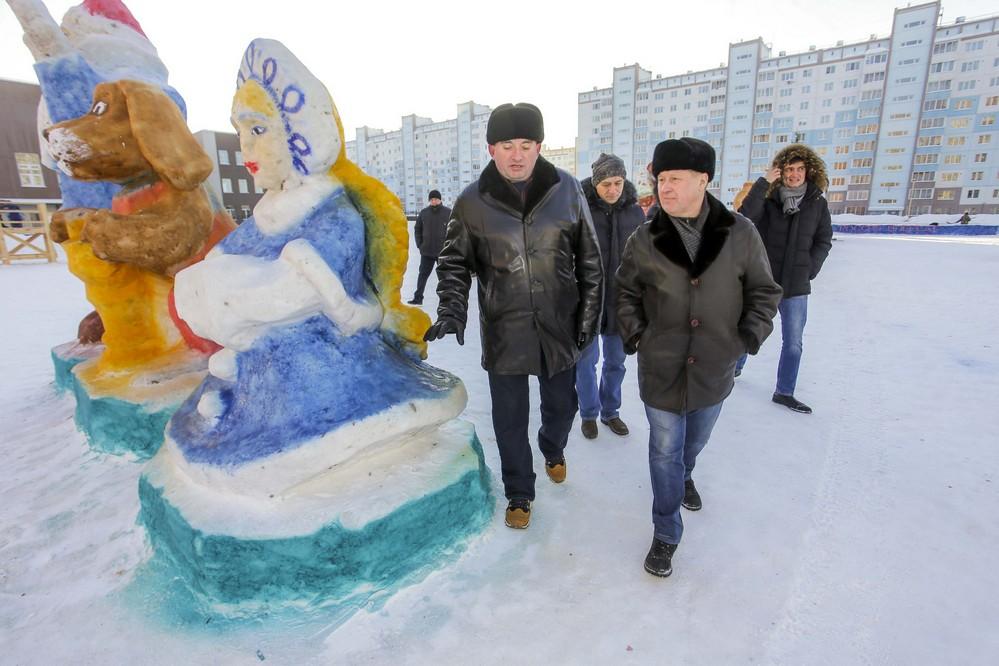 Анатолий Локоть проинспектировал состояние районов города