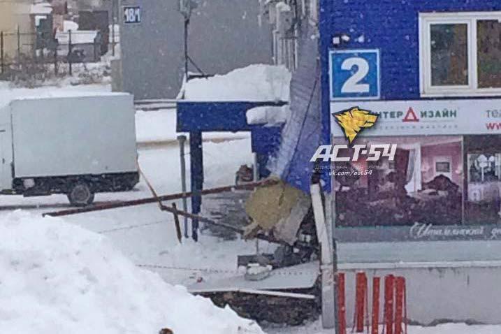 ВНовосибирске обрушилась стена здания из-за взрыва