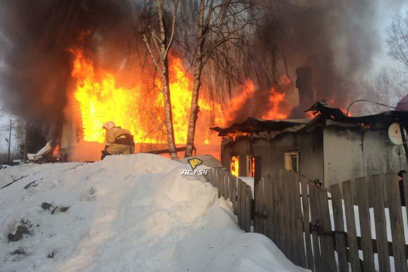 ВНовосибирске ребенок случайно устроил пожар в 3-х домах