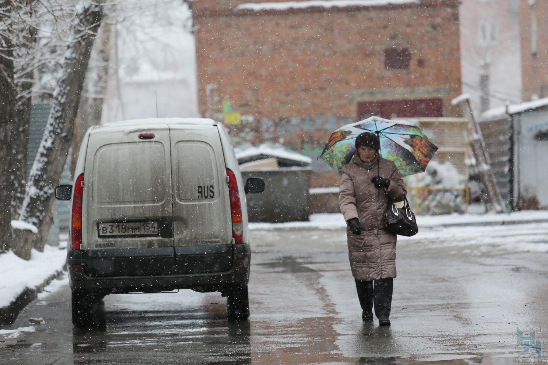 Дождь смокрым снегом накроет Новосибирск навыходных