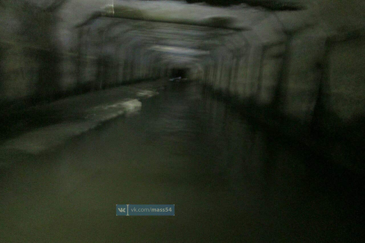 Вопасный 18-метровый коллектор спустились новосибирские cотрудники экстренных служб