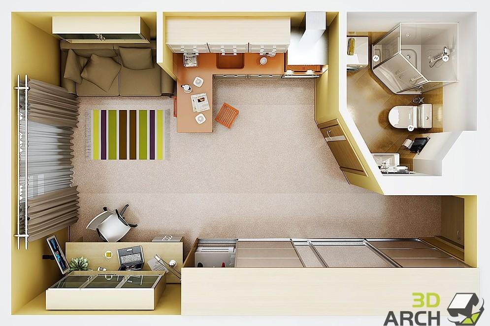 Дизайн квартир студий фото 26 кв.м