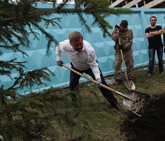 Коротко: мэр Локоть обакции «Вырасти своё дерево»